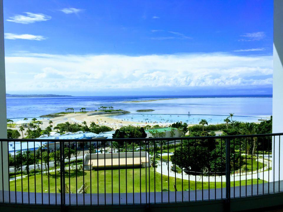 Blick vom Orion Hotel auf den Emerald Beach